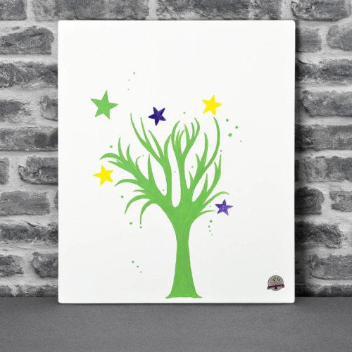Vente en ligne d'arbres à empreint sur toile