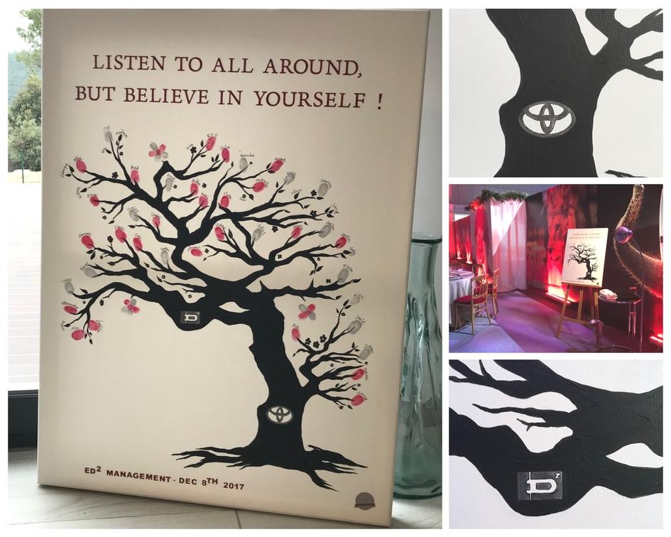 L'arbre à empreintes : un cadeau unique, personnalisé et inoubliable pour un événement